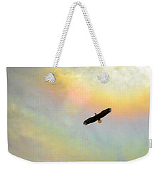 Eagle Of The Fire Rainbow Weekender Tote Bag