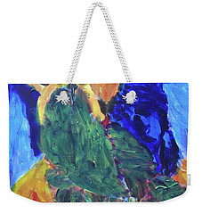 Weekender Tote Bag featuring the painting Standing Outside The Fire by Donald J Ryker III