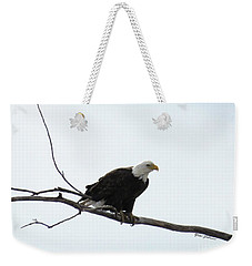 Eagle On The Tree Branch Weekender Tote Bag