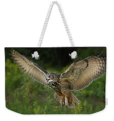 Eagle-owl In Flight Weekender Tote Bag