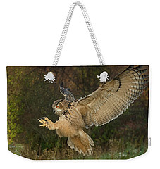 Eagle-owl Wings Back Weekender Tote Bag