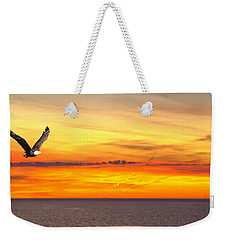 Eagle Panorama Sunset Weekender Tote Bag