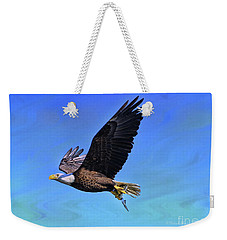 Weekender Tote Bag featuring the photograph Eagle Series Success by Deborah Benoit