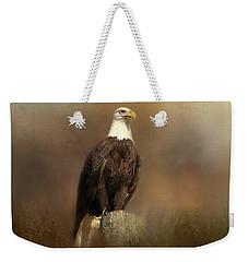 Eagle Sighting Weekender Tote Bag by TnBackroadsPhotos