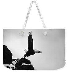 Eagle Takeoff At Adak, Alaska Weekender Tote Bag