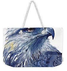 Eagle Watercolor Weekender Tote Bag