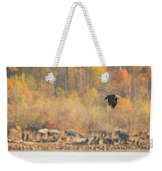 Eagle With Fish And Foliage Weekender Tote Bag by Jeff at JSJ Photography