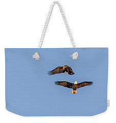 Eagles Dancing In Air Weekender Tote Bag