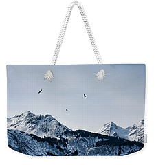 Eagles Over Mountains Weekender Tote Bag