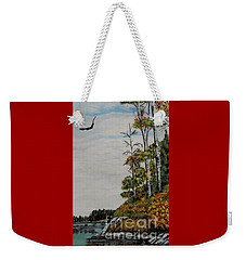 Weekender Tote Bag featuring the painting Eagles Point by Marilyn  McNish