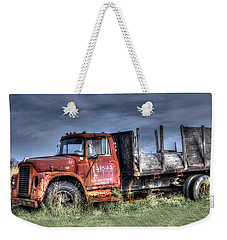 Weekender Tote Bag featuring the photograph Earl Latsha Lumber Company Version 2  by Shelley Neff