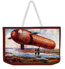 Early 1900s Military Airship Weekender Tote Bag by Peter Gumaer Ogden