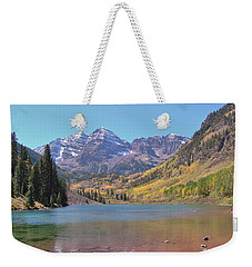 Early Autumn At The Bells Weekender Tote Bag