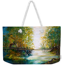 Early Autumn Lake Weekender Tote Bag