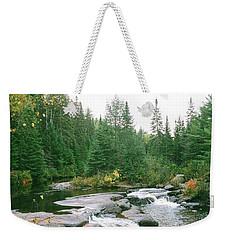 Early Autumn On The Madawaska River Weekender Tote Bag