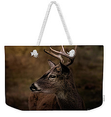 Weekender Tote Bag featuring the photograph Early Buck by Robert Frederick