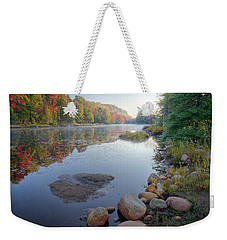 Weekender Tote Bag featuring the photograph Early Color On Bald Mountain Pond by David Patterson