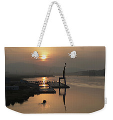Weekender Tote Bag featuring the photograph Early Hour On The River by Lucinda Walter