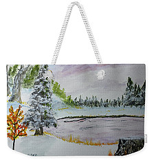 Early Ice  160705 Weekender Tote Bag