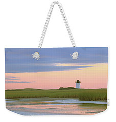 Weekender Tote Bag featuring the photograph Early Light At Wood End Light by Roupen  Baker
