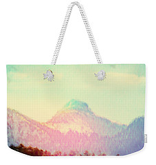 Early Light On My Mountain Muse Weekender Tote Bag by Anastasia Savage Ealy