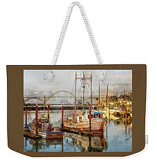 Early Light On Yaquina Bay Weekender Tote Bag