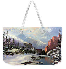 Early Morning In The Rocky Mountains Weekender Tote Bag