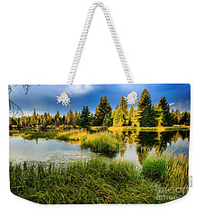 Early Morning At Jackson Hole Weekender Tote Bag