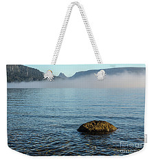 Weekender Tote Bag featuring the photograph Early Morning At Lake St Clair by Werner Padarin