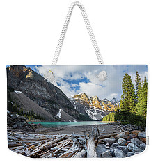Early Morning At Moraine Lake Weekender Tote Bag