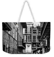 Early Morning At Pirate Alley In Black And White Weekender Tote Bag