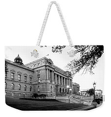 Early Morning At The Library Of Congress In Black And White Weekender Tote Bag
