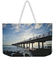 Early Morning At The Pier Weekender Tote Bag