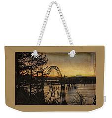 Early Morning At The Yaquina Bay Bridge  Weekender Tote Bag