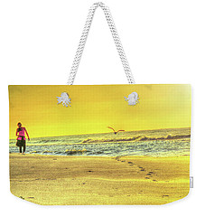 Early Morning Beach Walk Weekender Tote Bag