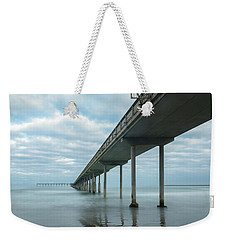 Weekender Tote Bag featuring the photograph Early Morning By The Ocean Beach Pier by James Sage