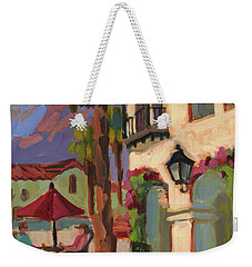 Early Morning Coffee At Old Town La Quinta Weekender Tote Bag by Diane McClary