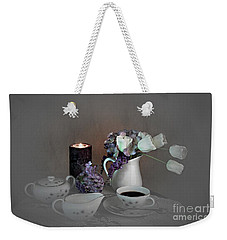 Early Morning Coffee Weekender Tote Bag
