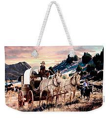 Early Morning Drive Weekender Tote Bag