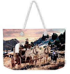 Early Morning Drive Weekender Tote Bag