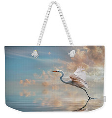 Weekender Tote Bag featuring the photograph Early Morning Egret by Brian Tarr