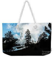 Early Morning Geysers At Yellowstone Weekender Tote Bag