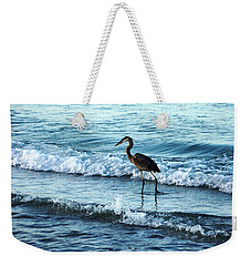 Early Morning Heron Beach Walk Weekender Tote Bag