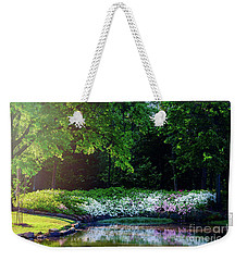 Early Morning Light At The Azalea Pond Weekender Tote Bag by Tamyra Ayles