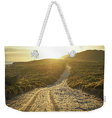 Early Morning Light On 4wd Sand Track Weekender Tote Bag