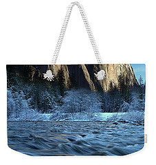 Early Morning Light On El Capitan During Winter At Yosemite National Park Weekender Tote Bag