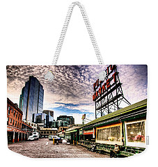 Early Morning Market Weekender Tote Bag by Spencer McDonald