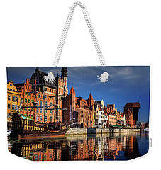 Early Morning On The Motlawa River In Gdansk Poland Weekender Tote Bag