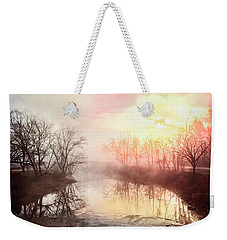 Weekender Tote Bag featuring the photograph Early Morning On The River by Debra and Dave Vanderlaan