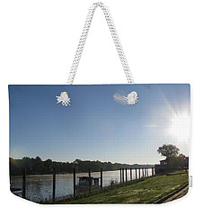 Early Morning On The Savannah River Weekender Tote Bag by Donna Brown